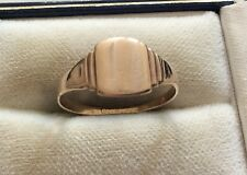 Nice Vintage 9ct Rose Gold Signet Ring - 9ct Ring