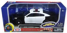 Motormax 1/24 LIGHTS & SOUNDS Blank Black & White Dodge Charger Police Car 79533