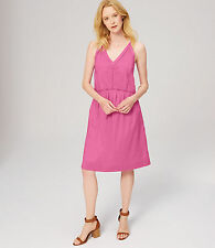 Ann Taylor LOFT - L - NWT $98 - Pink Ladder Lace Drop Waist Cotton Sun Dress