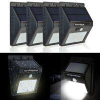 Solar Powered LED PIR Motion Sensor Security Outdoor Garden Shed Wall Light Lamp