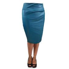 Falda de Bolso por Rodilla Cintura Alta Elegante Formal para Mujer Profesional