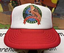 South Pacific Lager Export Beer Vintage SnapBack Hat cap Mesh Trucker NWOT Red