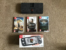 Nintendo Switch Lite Grey Console With 4 Games, Case And 256GB SD Card
