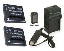 2 Batteries + Charger for Panasonic DMC-S3KKIT-2012 DMC-S3WKIT-2012 DMC-FX90