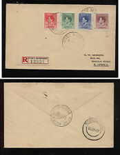 Papua  nice registered cover coronation stamps to South Africa            MM0522
