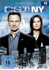 CSI : NY NEW YORK DIE KOMPLETTE DVD SEASON / STAFFEL 8 DEUTSCH