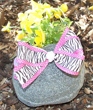 Zebra Print Pink Polka Dots Hair Bow for Girl's