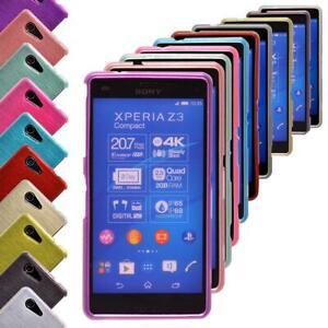 Schutzhülle Sony Xperia Z3 Silikon TPU Tasche Case Etui Cover Schutz Metallisch