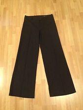 Ladies H&M nero su misura gessato Pantaloni a Gamba Larga-Taglia EUR 38,US 8 GRATIS P&P