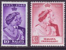 Malaya Trengganu 1948 SC 47-48 MH Set Silver Wedding