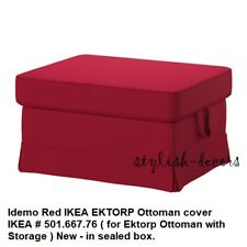 NEW IKEA RED EKTORP Ottoman Cover for IKEA EKTORP Idemo Red Footstool Slipcover