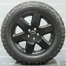 "GENUINE LAND ROVER DISCOVERY 4/3 HSE 19"" SATIN BLACK ALLOY WHEELS & MT TYRES X4"