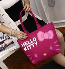 Cute Hello Kitty Women Girl's Fiberflax Food Shopping Tote Bag Handbag Schoolbag