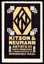 USA Poster Stamp - Advertising Kitson & Neumann - Artists & Photo Engravers