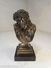 Vintage Marble base Spleter Jesus Statue   ref 2657