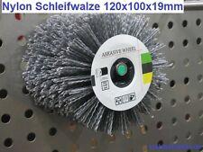 Nylonbürste Schleifbürste für Satiniermaschine, Satinierwalze 120x100x19mm
