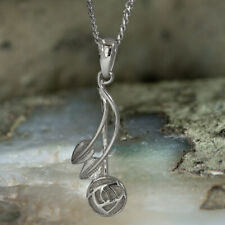 "Sterling Silver Charles Rennie Mackintosh ""Willow"" Pendant Necklace"