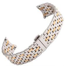 20mm Men's Strap For Omega DE VILLE Between Gold Stainless Steel Watchband