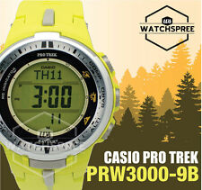 Casio Protrek Triple Sensor V3 Solar Atomic Series Watch PRW3000-9B