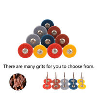 "Nylon Fiber Grinding Head Grit 240~1500 Polishing Disc Wheel 1/8"" Shank 10Pcs"