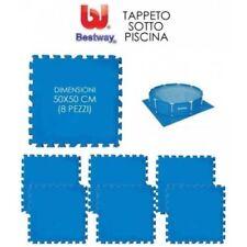 TAPPETO SOTTO PISCINA GIOCO FUORITERRA 8PZ 50x50 MARE TOTALE 2 MQ BESTWAY