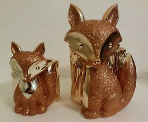 NEW Bath & Body Works Rose Gold Fox Pedestal Candle & Soap Holder Autumn 2020