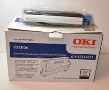 NIB OEM Okidata C3200n Black Drum & black Toner p/n 42126661 OKI C3200 Printers