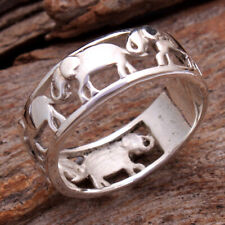 Designer Elephant Band Ring Solid 925 Sterling silver Jewelry Size us 7.5