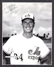 1969 Alan Hoops  EXPOS  SIGNED  7-1/2 x 9-1/2  AUTOGRAPH STAFF PHOTO AUTO COA #3