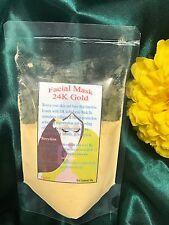 1 Facial Mask 24K Gold Stimulates Collagen Youthful Skin 50g