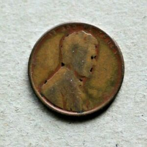 Mint Error Coin 1937 US Lincoln Penny, obv. struck thru grease