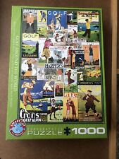 Eurographics Golf Around the World 1000 piece sporting vintage jigsaw puzzle NEW