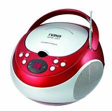 NEW NAXA Electronics NPB-251 Portable CD Player with AM/FM Stereo Radio Red