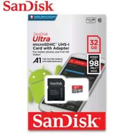 New 32GB SanDisk Ultra Micro SD SDHC 80MB/S Memory Card Class 10 + Adapter UK