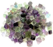 1 lb Fluorite Octahedron - SMALL Crystals - MIXED Bulk Lot - OCTA1LB-B