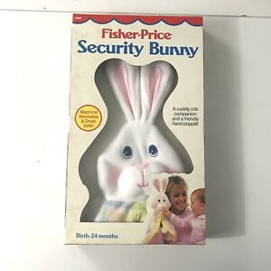 Vintage Fisher-Price 1353 Security Bunny Puppet Blanket Lovey Pastel 1986 New