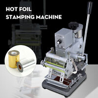 """2.4""""x3.5"""" Hot Foil Stamping Machine Bronzing for PVC ID Credit Card w/Foil Paper"""