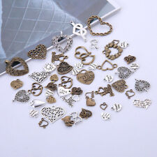 100Pcs/Lot Vintage Tibetan Metal Mixed Hearts Charms Pendants Jewelry Find RR