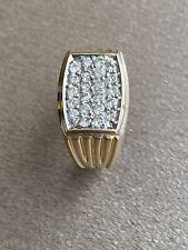 10K Yellow Gold Men's  1.00 CT Diamond Cluster Ring