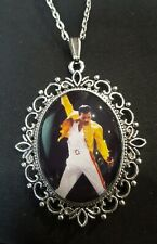 Freddie Mercury Large Silver Pendant Necklace Queen Icon Singer Musician 1