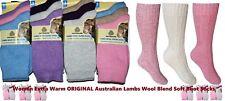 12 Pairs Women Australian Lambs Thermal Wool Blend Soft Boot Socks (size 4-7)