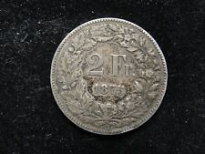 1875 Switzerland 2 Franc Silver Coin * Looks XF *