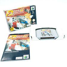 F1 Pole Position 64 - Nintendo 64 N64 - En boite avec notice - PAL