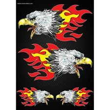 Stickers Motorcycle helmet tank Flames Eagle Format A4 2502