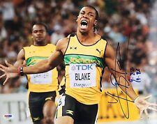 Yohan Blake Jamaica 2012 Olympics Signed 11x14 Photo Psa/Dna X73517