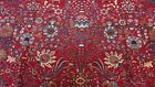 GENUINE ANTIQUE FLORAL TABTIZZ HAND KNOTTED WOOL ORIENTAL RUG GORGEOUS 10 x 14