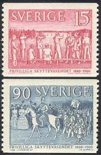Sweden 1960 Shooting Organization/Sports/Rifle/Horses 2v set coil (n43553)