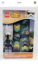 NEW LEGO STAR WARS BOBA FETT BUILDABLE WATCH WITH MINIFIGURE TOY! #8020363