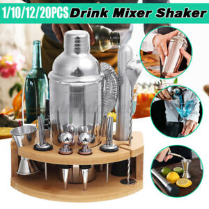 12-tlg Edelstahl Cocktail Shaker Set Cocktailset Mixer 750ml Bar Barkeeper DE