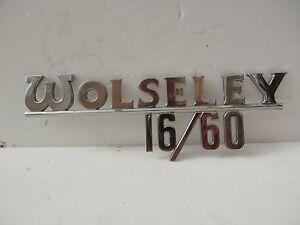 Original Authentic Wolseley 16/60 Badge by J Fray, Birmingham.